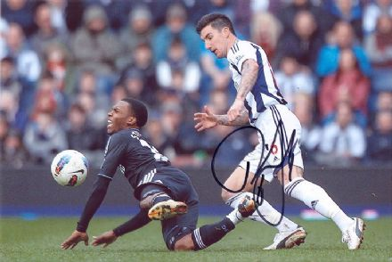 Liam Ridgewell, West Brom, signed 12x8 inch photo.